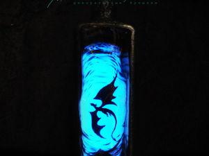 Моя новая бутылка и немного о люминофоре. Ярмарка Мастеров - ручная работа, handmade.