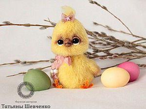 Knitting a Fluffy Chicken. Livemaster - handmade