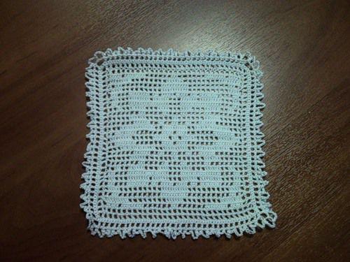 Салфетка филейное вязание