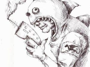 День 85. Графический набросок  «Дракон» . Ярмарка Мастеров - ручная работа, handmade.