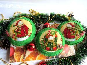 Яркие игрушки на новогоднюю ёлку!. Ярмарка Мастеров - ручная работа, handmade.
