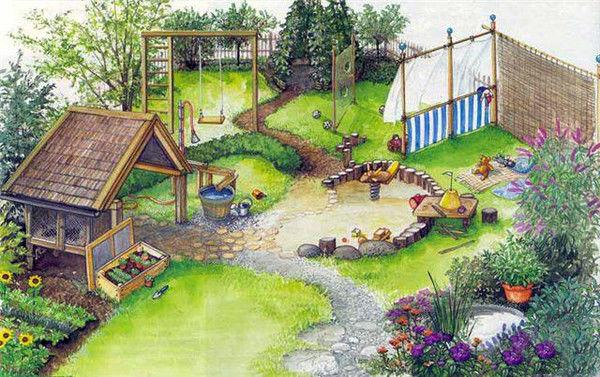Детская зона на даче для детей