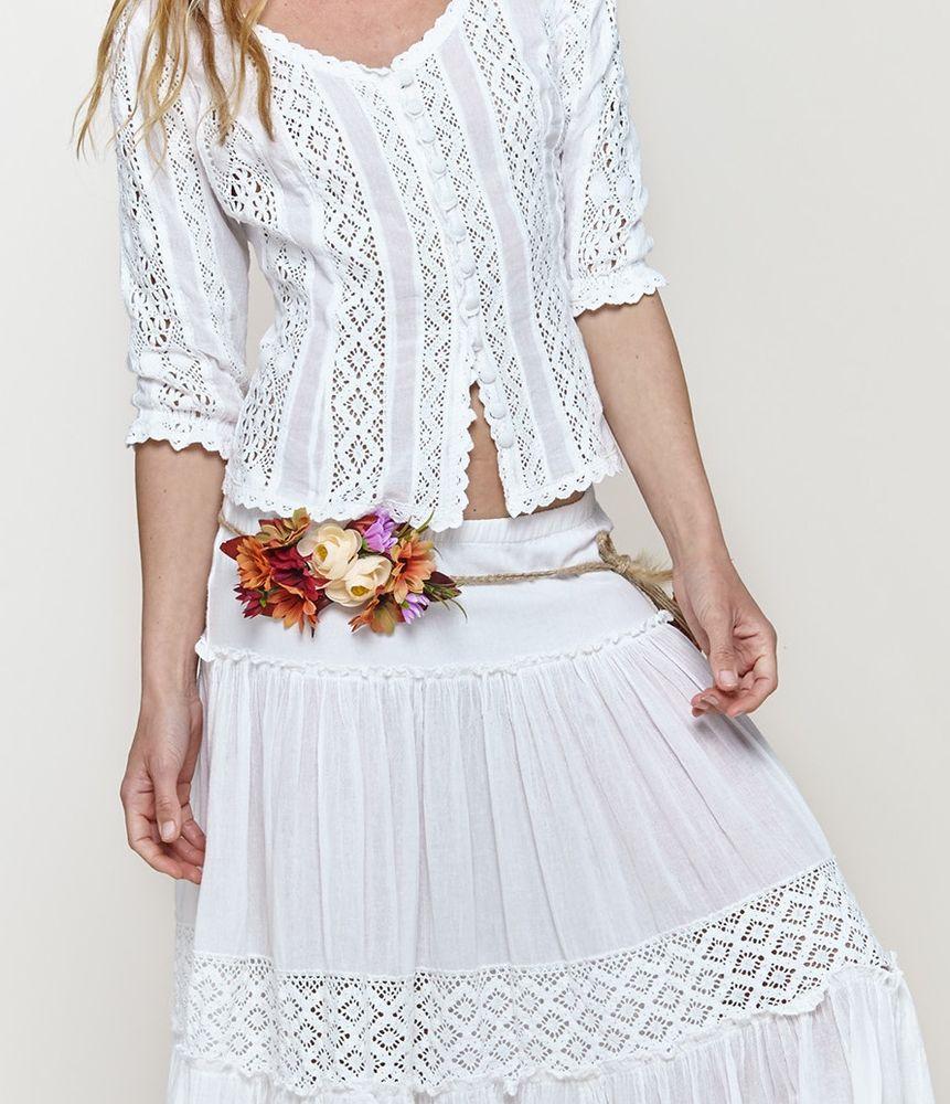 Белое бохо, или Шикарная одежда для королевы летнего пляжа, фото № 88