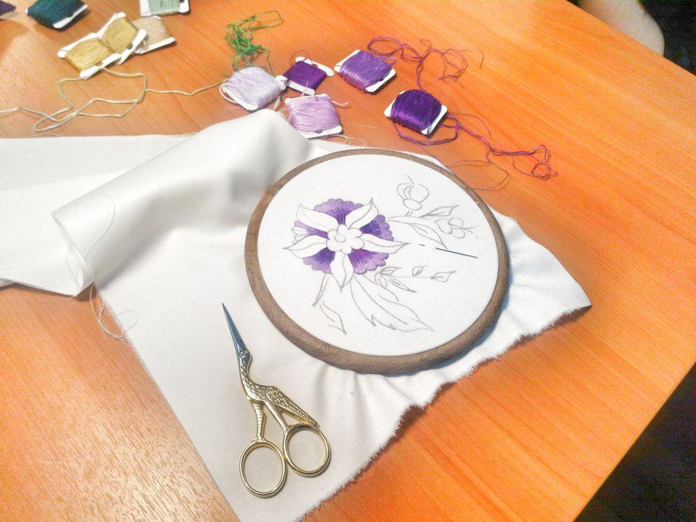 якобинская вышивка, схема для вышивки крестом, мастер-класс