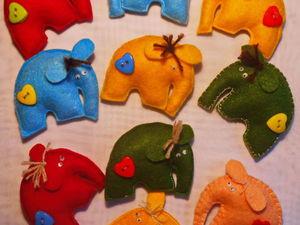 Магниты Веселые слоники в подарок при любой покупке !. Ярмарка Мастеров - ручная работа, handmade.