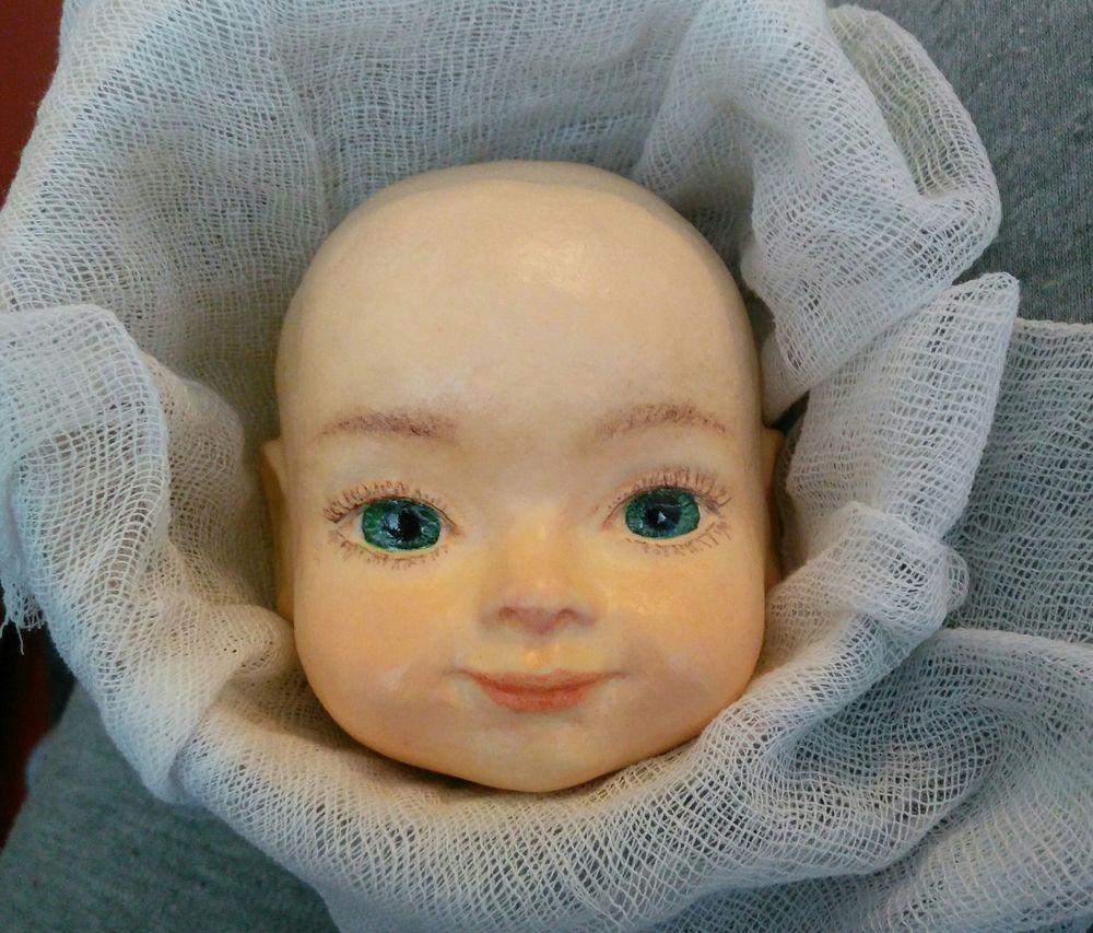 авторская кукла, соломенная шляпа