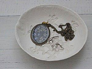 Kid's DIY: Ceramic Plate from Self-Hardening Mass. Livemaster - handmade