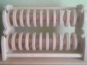 Подставка с катушками для лент и кружево, катушек 22шт!!!. Ярмарка Мастеров - ручная работа, handmade.