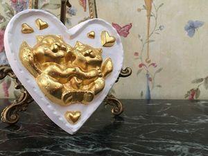 """Сувенир """"Влюблённые котики"""". Ярмарка Мастеров - ручная работа, handmade."""