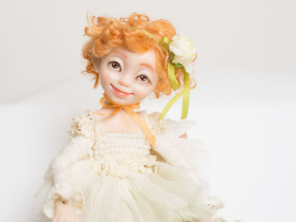 Creating a Flower Doll out of Sculpey. Livemaster - handmade