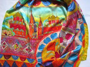 """Новинка — палантин """"Русская песня"""". Ярмарка Мастеров - ручная работа, handmade."""