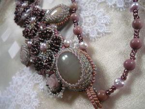 Аукцион с 0 на очень женственный кулон галстук с натуральным камнем!. Ярмарка Мастеров - ручная работа, handmade.