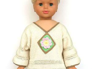Вяжем тунику для девочки в этностиле с элементами пэчворк единым полотном. Ярмарка Мастеров - ручная работа, handmade.