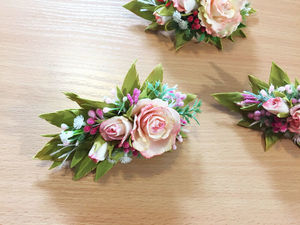 МК: заколка с розами из фоамирана | Ярмарка Мастеров - ручная работа, handmade