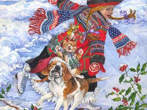Яркая зима от художника-иллюстратора Wendy Edelson. Ярмарка Мастеров - ручная работа, handmade.