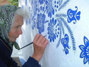 Street Art by Granny Anna: Ultramarine Miracles. Livemaster - handmade