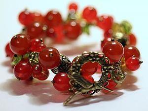 Creating Redсurrant Bracelet. Livemaster - handmade