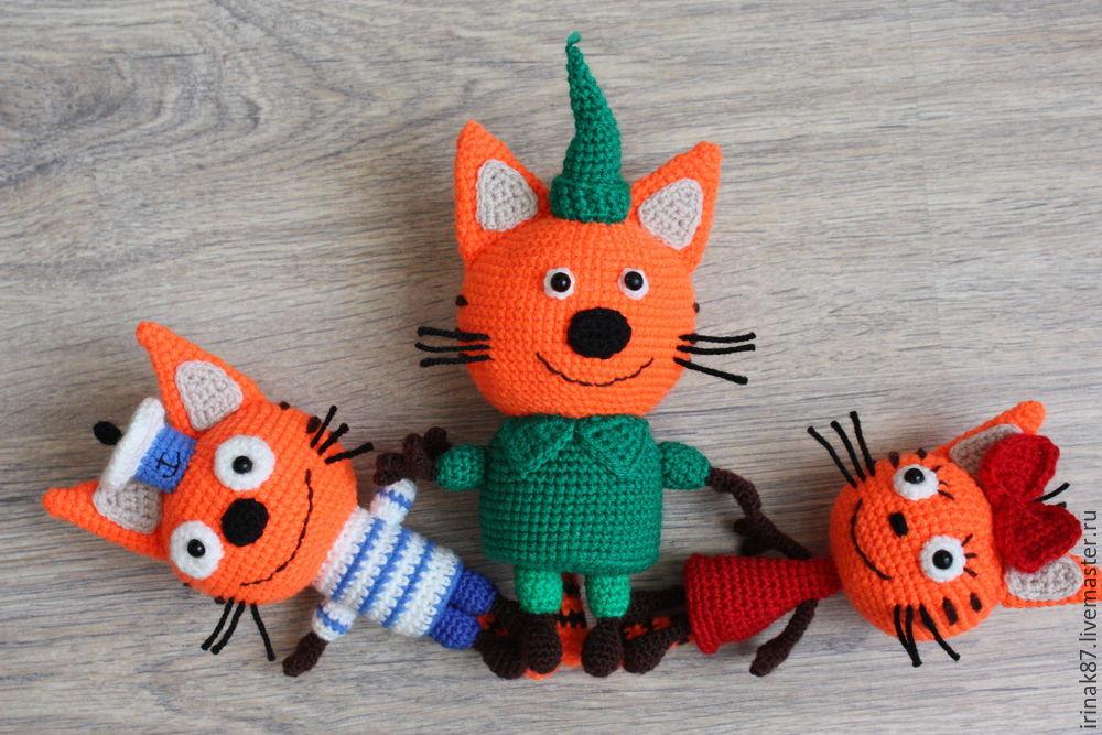 три кота крючком схемы