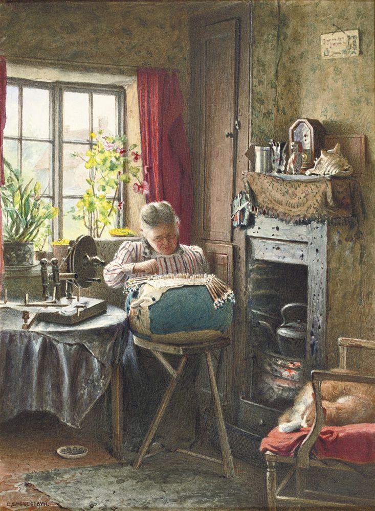 Когда есть чем заняться — стареть некогда: душевные картины о бабушках-рукодельницах, фото № 24
