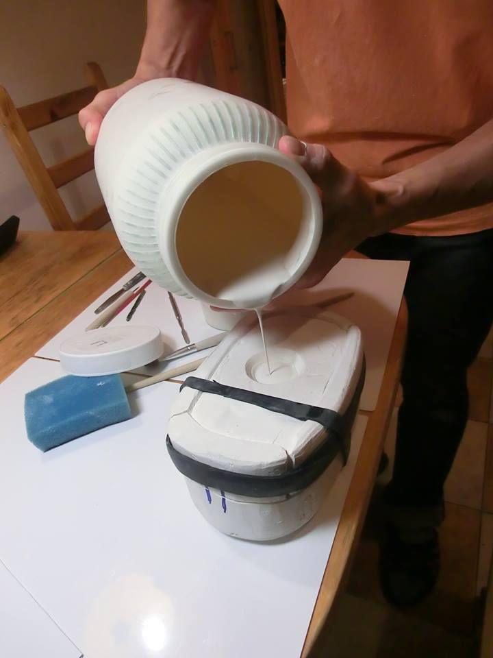 как приготовить шликер, шликерное литьё, обучение литью, фарфор дома