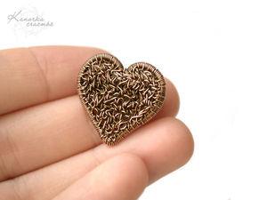 Новая брошь Сердце | Ярмарка Мастеров - ручная работа, handmade