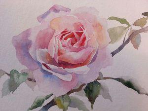 Розы в технике акварель. февраль 2017 | Ярмарка Мастеров - ручная работа, handmade