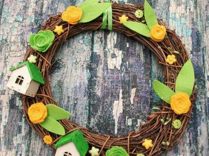 Новый весенний венок в нашем магазине | Ярмарка Мастеров - ручная работа, handmade