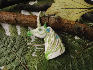Создаем брошь из полимерной глины «Лесной единорог». Ярмарка Мастеров - ручная работа, handmade.