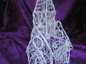 Делаем из ниток интерьерное украшение «Зимний дом». Ярмарка Мастеров - ручная работа, handmade.