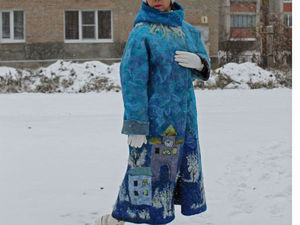АУКЦИОН на валяное пальто с городом!!!!. Ярмарка Мастеров - ручная работа, handmade.