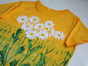 """Про футболочку """"Ромашки 3"""". Ярмарка Мастеров - ручная работа, handmade."""