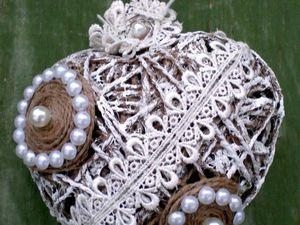Сердце-валентинка из бичевки   Ярмарка Мастеров - ручная работа, handmade