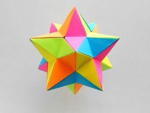 Создаем малый звёздчатый додекаэдр из бумаги. Ярмарка Мастеров - ручная работа, handmade.