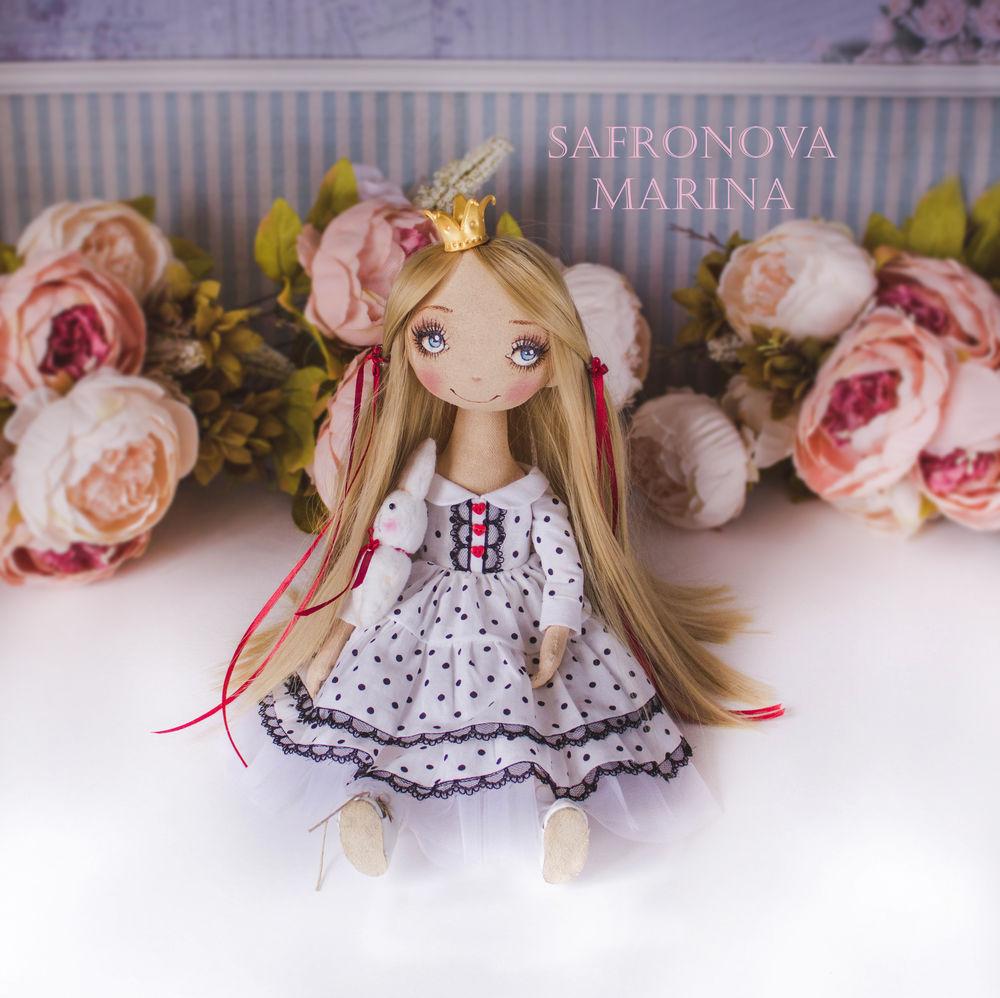 купить текстильная кукла, купить кукла блондинка