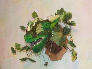 Создаем необычный настенный трофей — дракон из папье-маше. Ярмарка Мастеров - ручная работа, handmade.