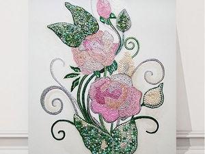 Розы для королевы из страз Сваровски. Ярмарка Мастеров - ручная работа, handmade.