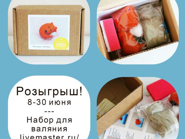 Розыгрыш --- Набор для валяния --- Порция счастья. До 1 июля! | Ярмарка Мастеров - ручная работа, handmade