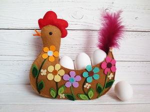 Шьем пасхальную курочку с цветочным декором. Ярмарка Мастеров - ручная работа, handmade.