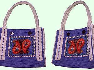 Knitted Paisley Bag Tutorial. Livemaster - handmade