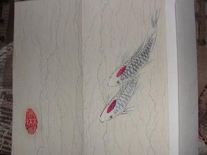 Карпы кои в китайской живописи | Ярмарка Мастеров - ручная работа, handmade