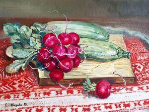 Аукцион сегодня! Аукцион сейчас! Картина маслом — Новый урожай. Ярмарка Мастеров - ручная работа, handmade.