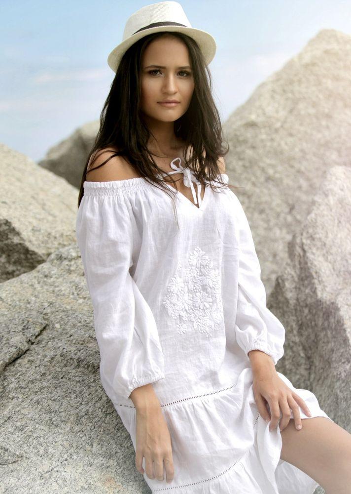 Белое бохо, или Шикарная одежда для королевы летнего пляжа, фото № 18