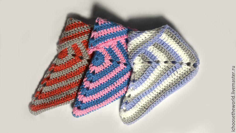 вяжем тапочки сапожки крючком из бабушкиного квадрата ярмарка