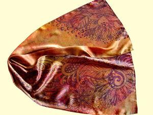 Аукцион на шелковые шарфы.. Ярмарка Мастеров - ручная работа, handmade.
