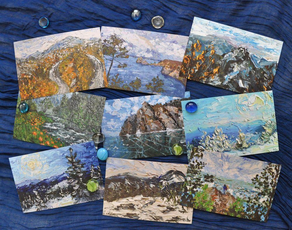 Как печатают почтовые открытки, посланием