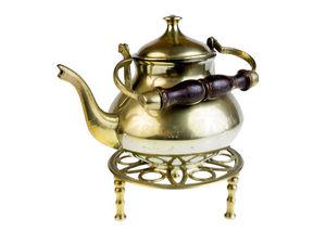 Редкость! Раритет! Изящный старинный латунный чайник на подставке. Ярмарка Мастеров - ручная работа, handmade.