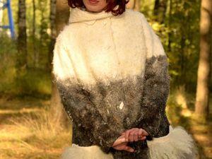 Пальто из флиса ангорской козочки. Ярмарка Мастеров - ручная работа, handmade.