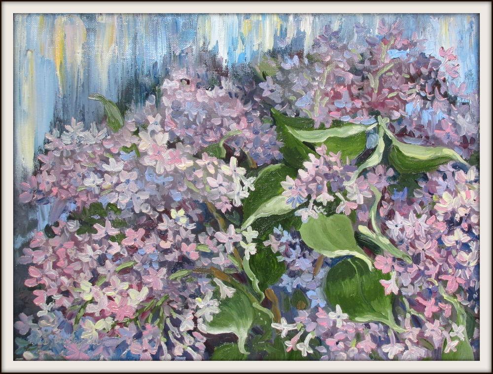 картина цветов, живопись в радость