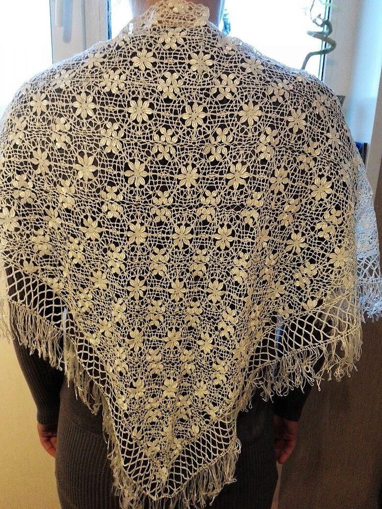 антикварная шаль