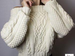 Обзор новинки! Стильный белый вязаный свитер. Ярмарка Мастеров - ручная работа, handmade.